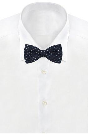 Детский галстук-бабочка из хлопка и шелка DAL LAGO темно-синего цвета, арт. N301/7820/III | Фото 2
