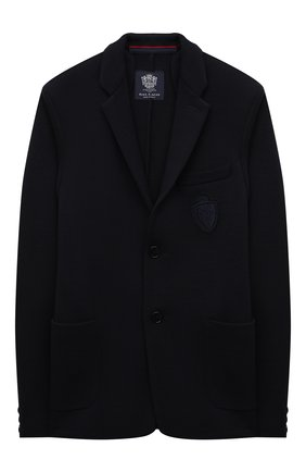 Детский шерстяной пиджак DAL LAGO темно-синего цвета, арт. N068S/7715/13-16 | Фото 1