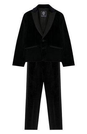 Детский костюм из пиджака и брюк DAL LAGO темно-синего цвета, арт. N062/7712/4-6 | Фото 1
