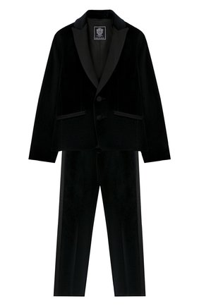 Детский костюм из пиджака и брюк DAL LAGO черного цвета, арт. N062/7712/4-6 | Фото 1