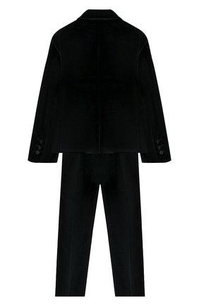 Детский костюм из пиджака и брюк DAL LAGO черного цвета, арт. N062/7712/4-6 | Фото 2