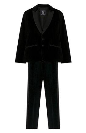 Детский костюм из пиджака и брюк DAL LAGO черного цвета, арт. N062/7712/13-16 | Фото 1