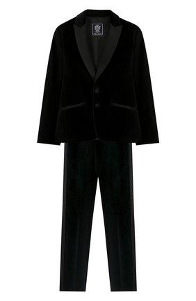 Детский костюм из пиджака и брюк DAL LAGO темно-синего цвета, арт. N062/7712/7-12 | Фото 1