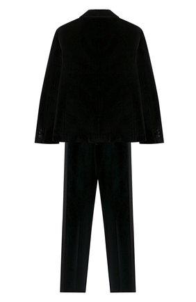 Детский костюм из пиджака и брюк DAL LAGO черного цвета, арт. N062/7712/7-12 | Фото 2