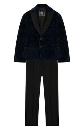 Детский костюм из пиджака и брюк DAL LAGO темно-синего цвета, арт. N058R/8732/4-6 | Фото 1