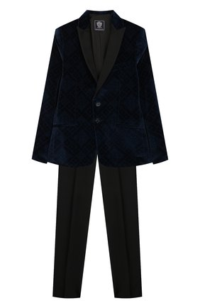 Детский костюм из пиджака и брюк DAL LAGO темно-синего цвета, арт. N058R/8732/13-16 | Фото 1