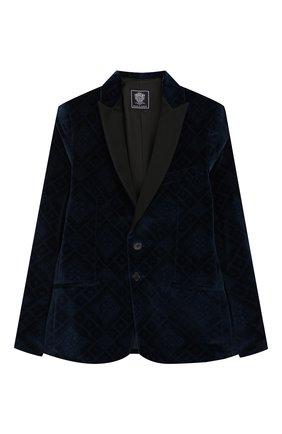 Детский костюм из пиджака и брюк DAL LAGO темно-синего цвета, арт. N058R/8732/7-12 | Фото 2