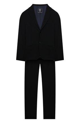 Детский костюм из пиджака и брюк DAL LAGO темно-синего цвета, арт. N011/1011/7-12 | Фото 1