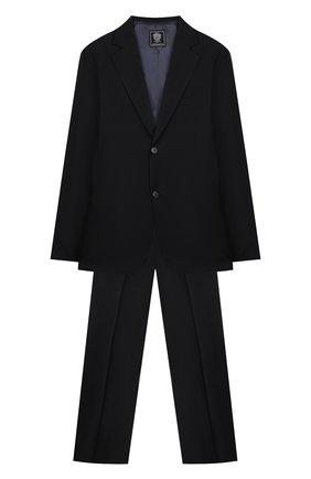 Детский костюм из пиджака и брюк DAL LAGO синего цвета, арт. N010M/1011/17/L-18/XL | Фото 1