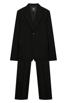 Детский костюм из пиджака и брюк DAL LAGO черного цвета, арт. N010/1011/13-16 | Фото 1