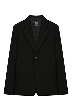 Детский костюм из пиджака и брюк DAL LAGO черного цвета, арт. N010/1011/13-16 | Фото 2