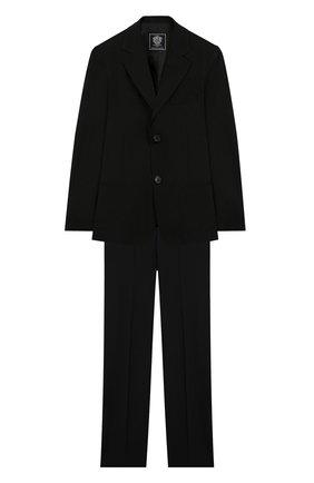 Детский костюм из пиджака и брюк DAL LAGO черного цвета, арт. N010/1011/7-12 | Фото 1
