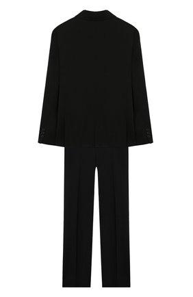 Детский костюм из пиджака и брюк DAL LAGO черного цвета, арт. N010/1011/7-12 | Фото 2