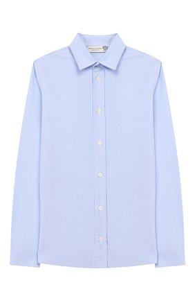 Детская хлопковая рубашка DAL LAGO голубого цвета, арт. DL08/8703/13-16 | Фото 1