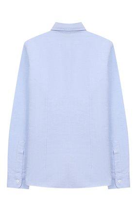 Детская хлопковая рубашка DAL LAGO голубого цвета, арт. DL08/8703/13-16 | Фото 2