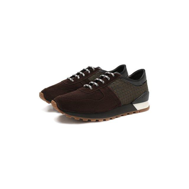 Замшевые кроссовки Kiton — Замшевые кроссовки