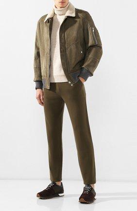 Мужские замшевые кроссовки KITON темно-коричневого цвета, арт. USSMA02N00629 | Фото 2