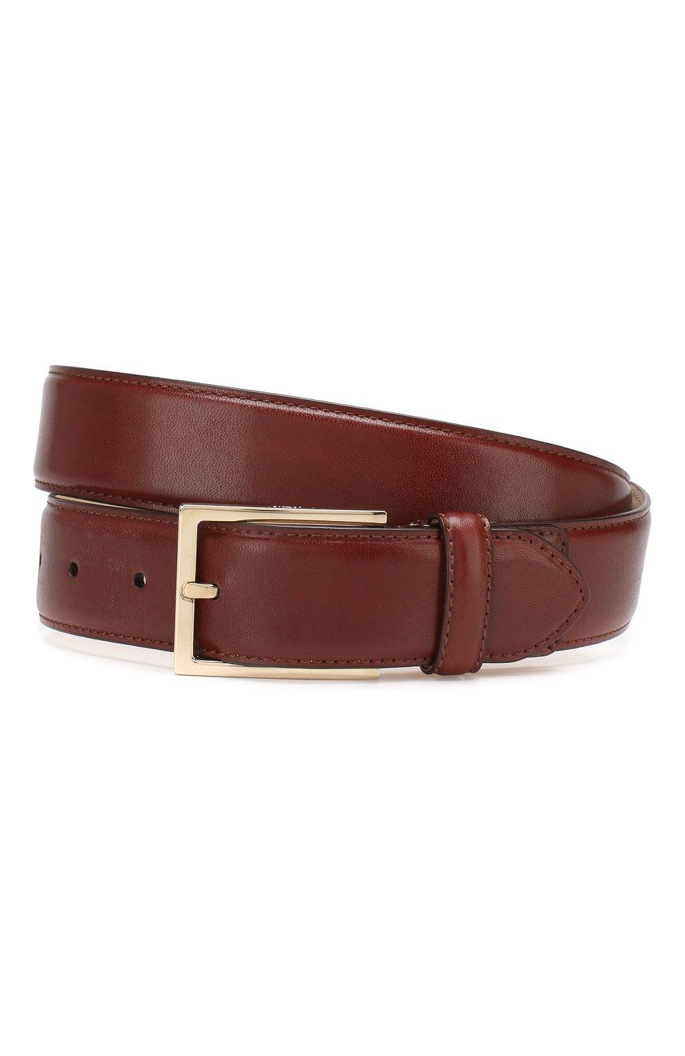 Мужской кожаный ремень BRIONI светло-коричневого цвета, арт. 0BAC0L/P6757   Фото 1