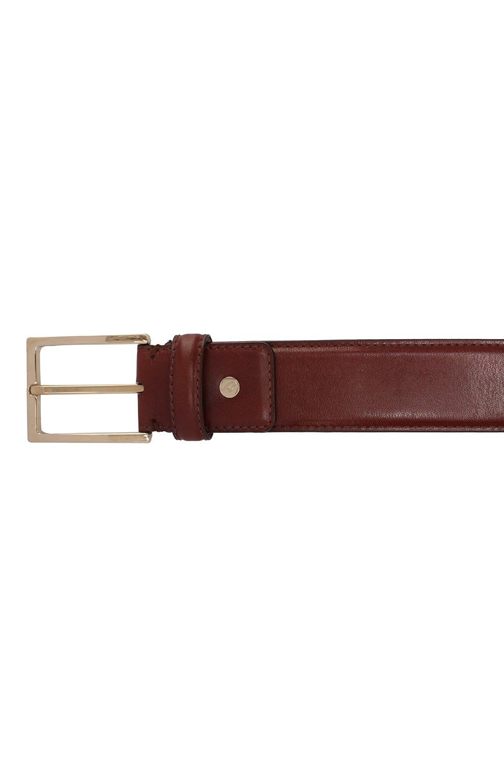 Мужской кожаный ремень BRIONI светло-коричневого цвета, арт. 0BAC0L/P6757   Фото 3