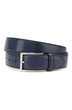 Мужской кожаный ремень BRIONI темно-синего цвета, арт. 0BAC0L/P6757 | Фото 1