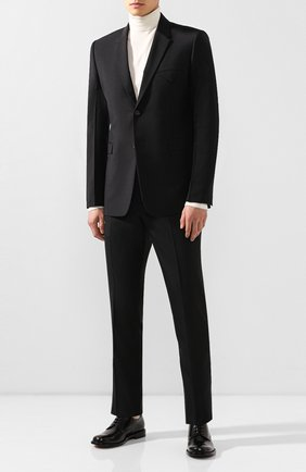 Мужской пиджак BOTTEGA VENETA черного цвета, арт. 576811/V0KI1 | Фото 2