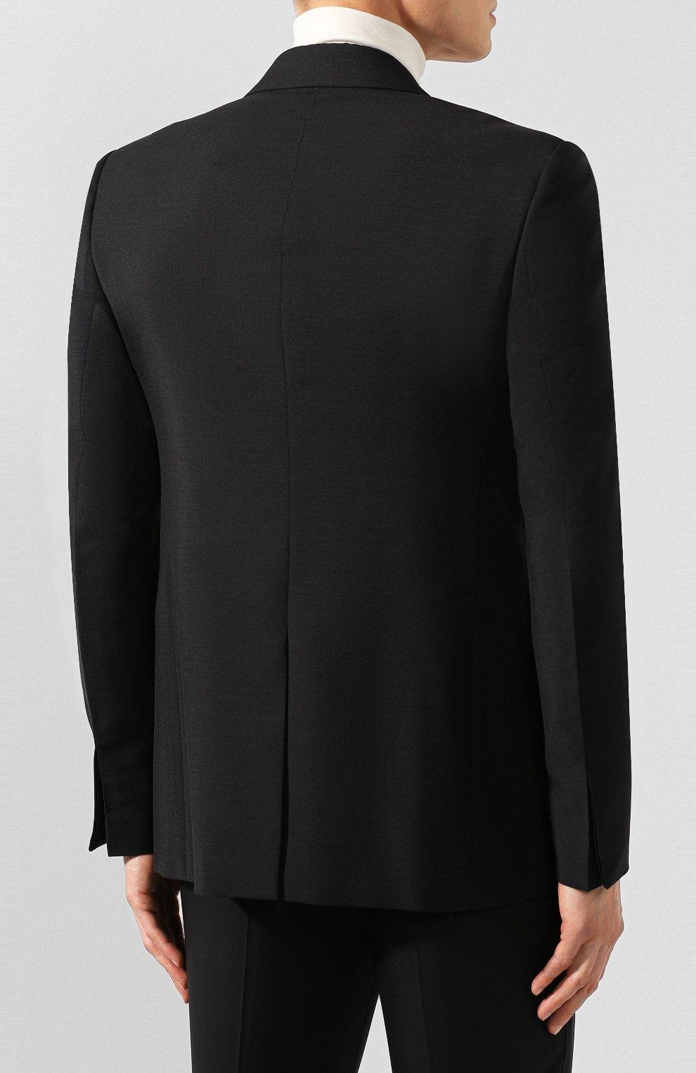 Мужской пиджак BOTTEGA VENETA черного цвета, арт. 576811/V0KI1 | Фото 4