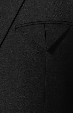 Мужской пиджак BOTTEGA VENETA черного цвета, арт. 576811/V0KI1 | Фото 5