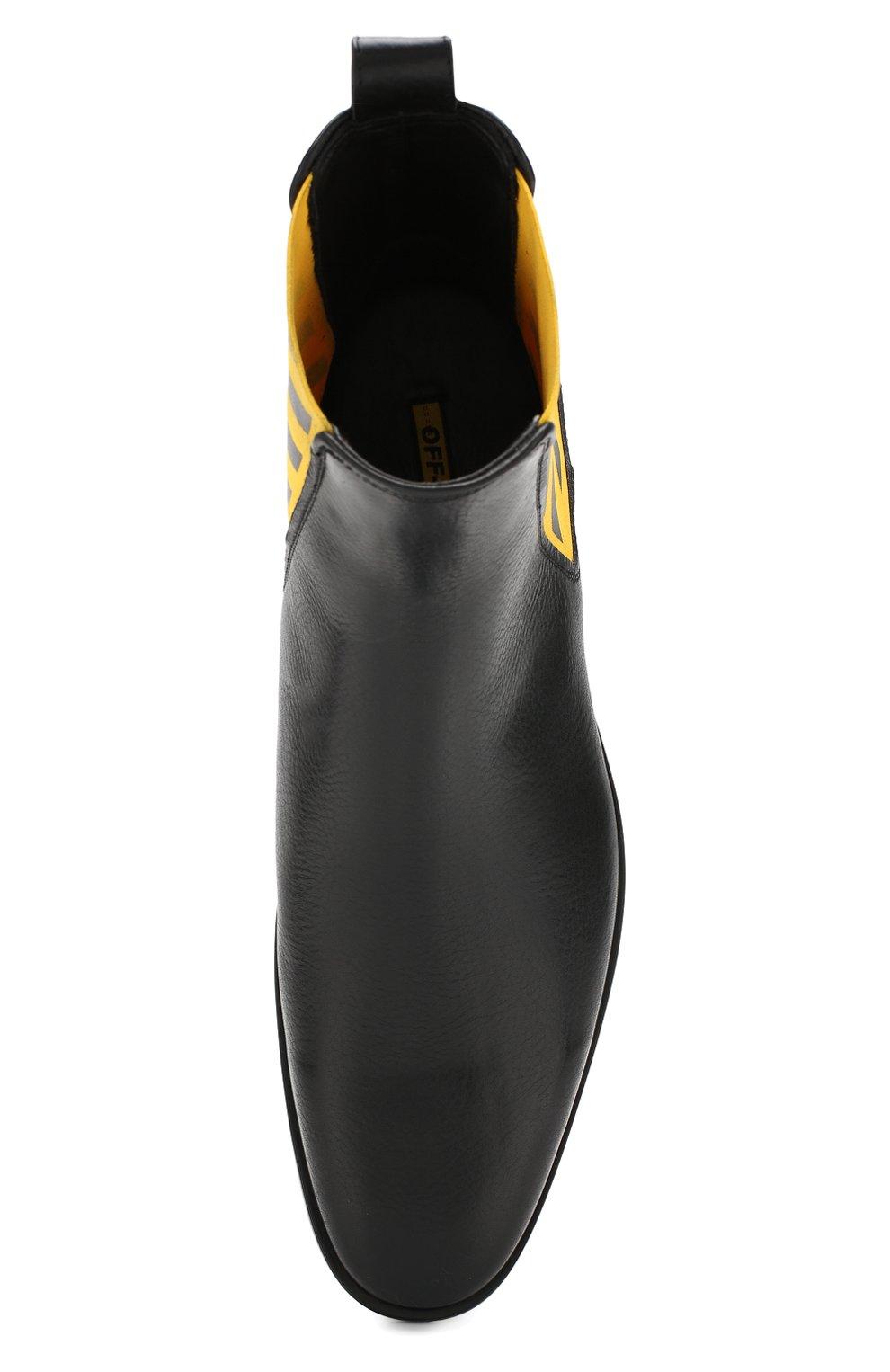 Мужские кожаные челси OFF-WHITE черного цвета, арт. 0MIA130E19D680491060 | Фото 5