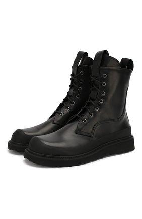 Мужские кожаные ботинки BOTTEGA VENETA черного цвета, арт. 578295/VIFH0 | Фото 1