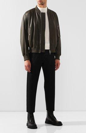 Мужские кожаные ботинки BOTTEGA VENETA черного цвета, арт. 578295/VIFH0 | Фото 2
