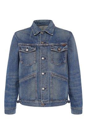 Мужская джинсовая куртка TOM FORD синего цвета, арт. BTJ11/TFD111 | Фото 1