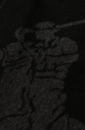 Мужской шерстяной шарф POLO RALPH LAUREN черного цвета, арт. 449775965 | Фото 2