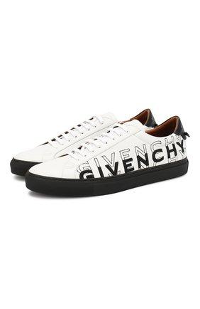 Кожаные кеды Givenchy черно-белые | Фото №1
