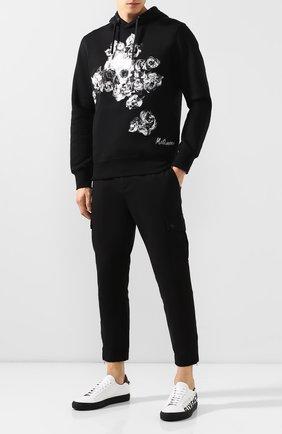 Кожаные кеды Givenchy черно-белые | Фото №2