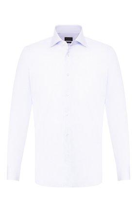 Мужская хлопковая сорочка ERMENEGILDO ZEGNA сиреневого цвета, арт. 601039/9MS0BA | Фото 1