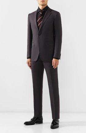 Мужская хлопковая сорочка ERMENEGILDO ZEGNA черного цвета, арт. 601069/9MS0BR | Фото 2