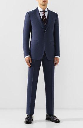 Мужской шерстяной костюм-тройка ERMENEGILDO ZEGNA синего цвета, арт. 622521/327B25 | Фото 1