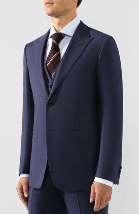Мужской шерстяной костюм-тройка ERMENEGILDO ZEGNA синего цвета, арт. 622521/327B25 | Фото 2
