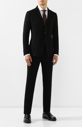 Мужской шерстяной костюм Z ZEGNA черного цвета, арт. 624715/2XPYGX | Фото 1