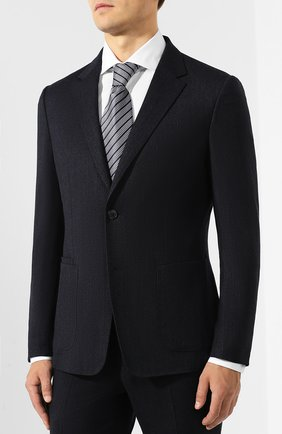 Мужской шерстяной костюм Z ZEGNA темно-синего цвета, арт. 625703/2XPYGX   Фото 2