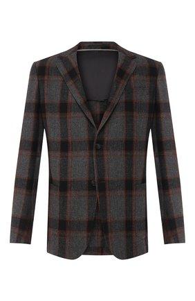 Мужской шерстяной пиджак Z ZEGNA серого цвета, арт. 650706/1DS8G0 | Фото 1