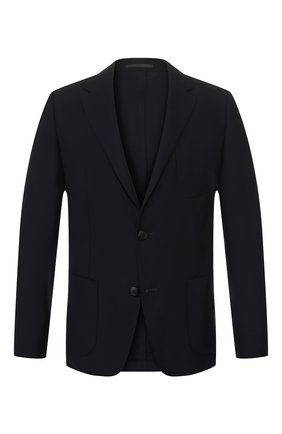 Мужской шерстяной пиджак Z ZEGNA темно-синего цвета, арт. 654721/1XPKG0 | Фото 1