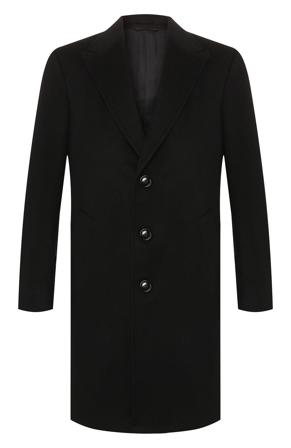 Мужской кашемировое пальто ERMENEGILDO ZEGNA черного цвета, арт. 699026/42BAS0 | Фото 1
