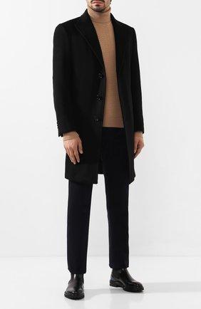 Мужской кашемировое пальто ERMENEGILDO ZEGNA черного цвета, арт. 699026/42BAS0 | Фото 2