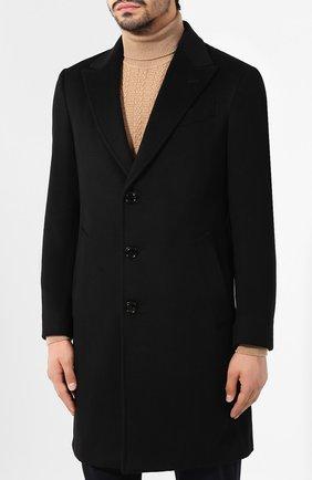 Мужской кашемировое пальто ERMENEGILDO ZEGNA черного цвета, арт. 699026/42BAS0 | Фото 3