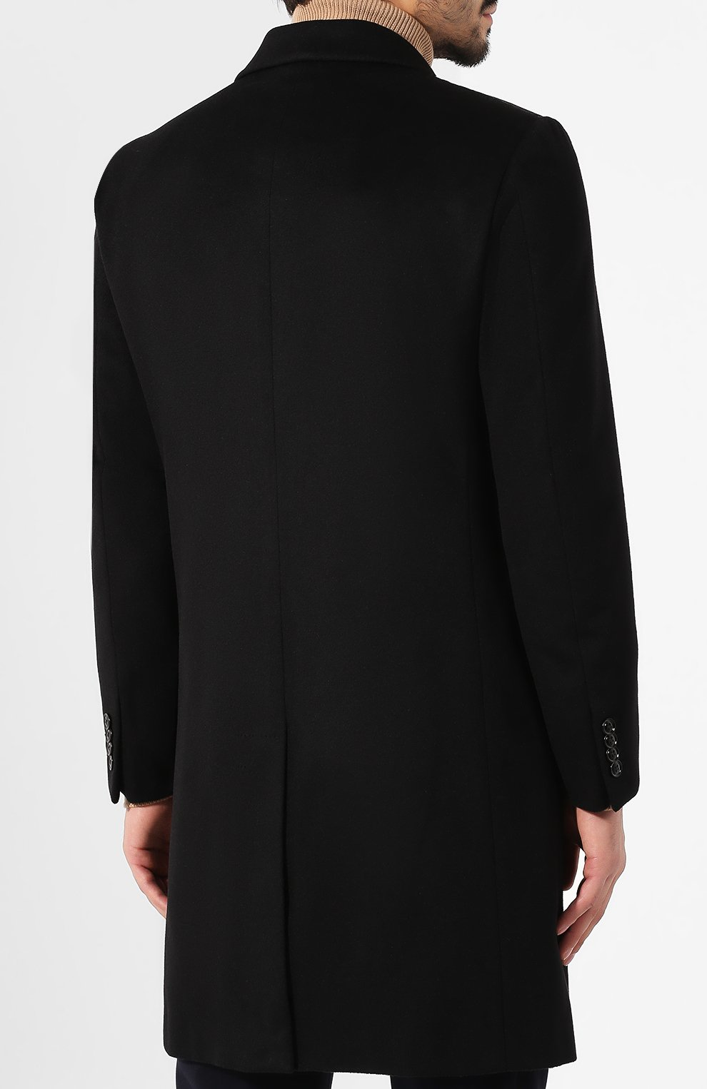 Мужской кашемировое пальто ERMENEGILDO ZEGNA черного цвета, арт. 699026/42BAS0 | Фото 4