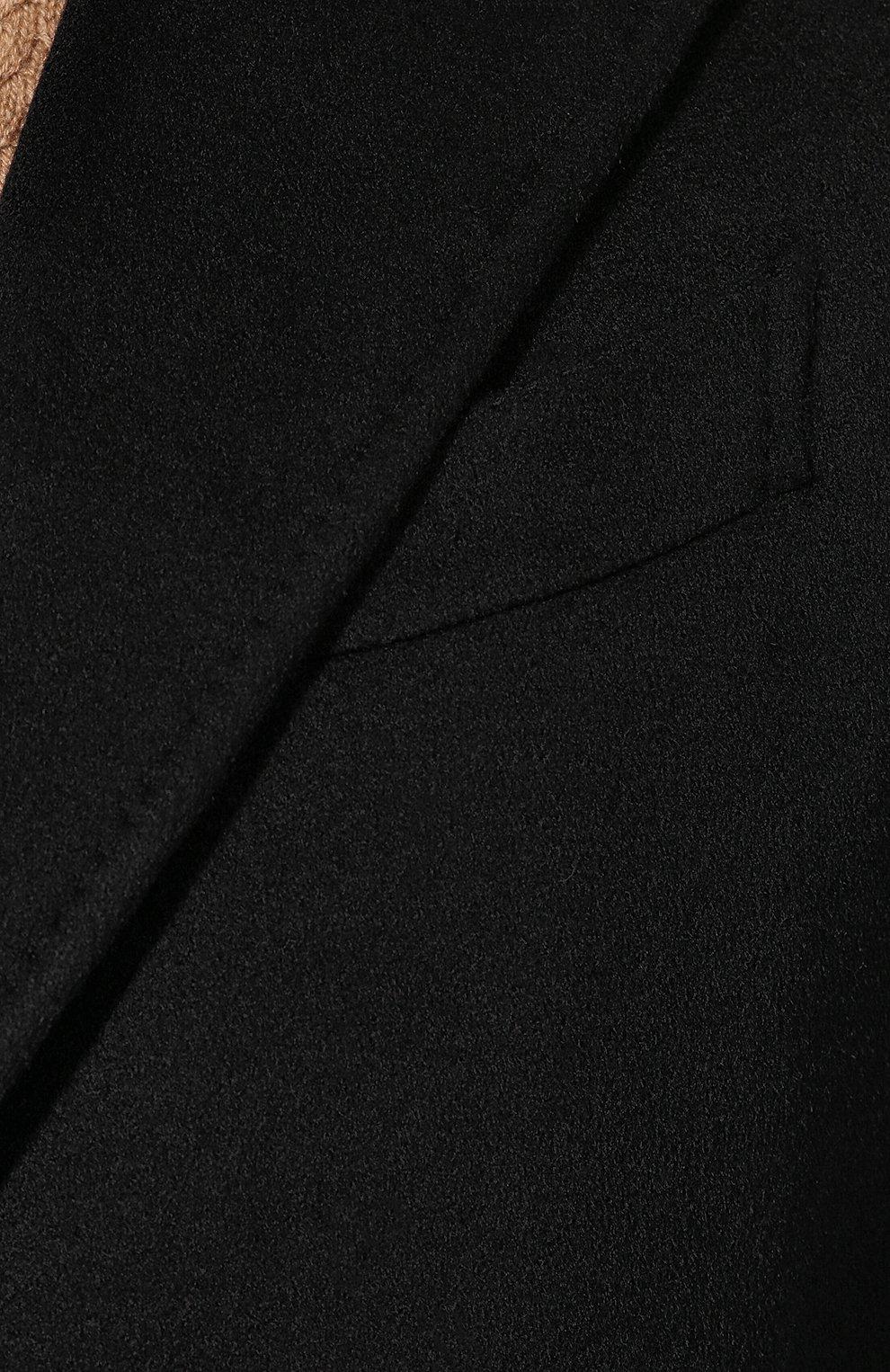 Мужской кашемировое пальто ERMENEGILDO ZEGNA черного цвета, арт. 699026/42BAS0 | Фото 5