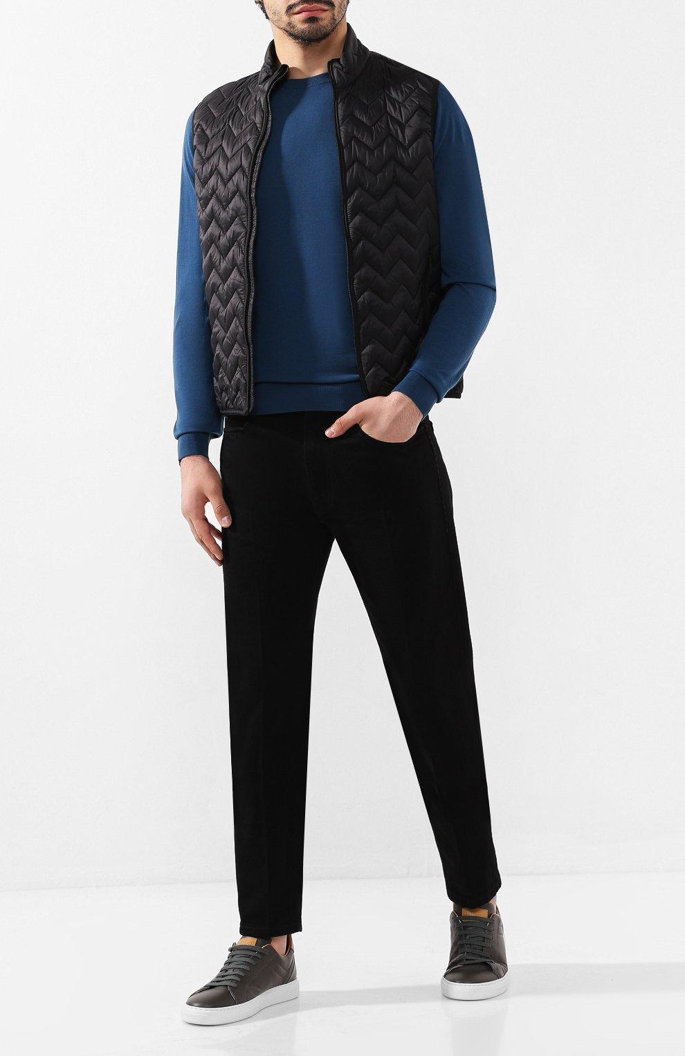 Мужские джинсы ERMENEGILDO ZEGNA черного цвета, арт. UTL03/JL02 | Фото 2