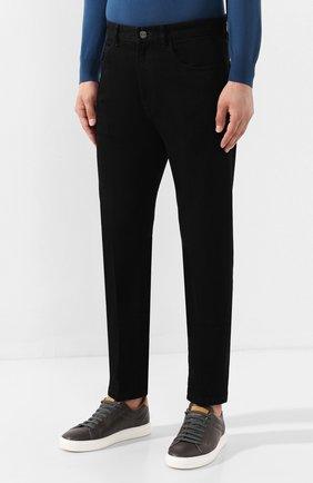 Мужские джинсы ERMENEGILDO ZEGNA черного цвета, арт. UTL03/JL02 | Фото 3