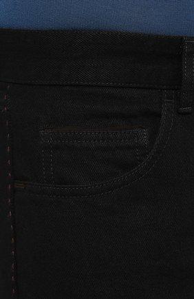 Мужские джинсы ERMENEGILDO ZEGNA черного цвета, арт. UTL03/JL02 | Фото 5